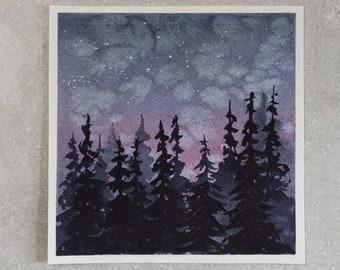 Camping Sights | Watercolor Art