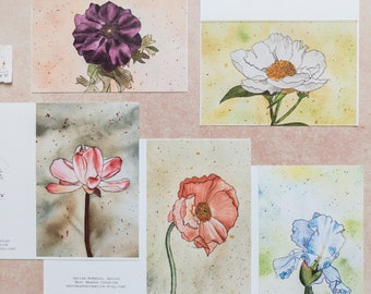 4 x 6 Floral Greeting Cards | 5 pack or 10 pack