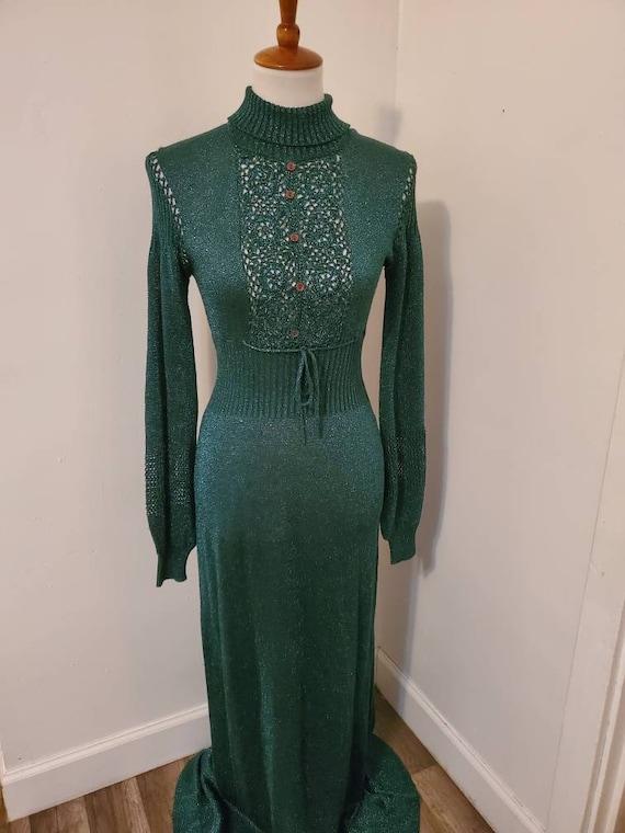 Vintage 1970s Wenjilli long dinner dress