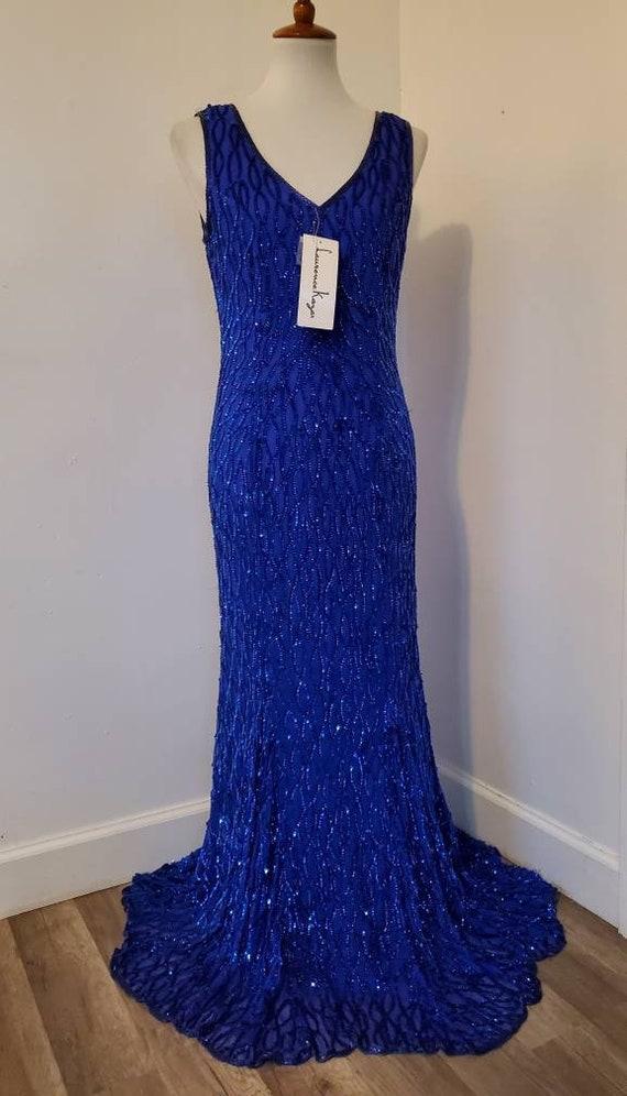 Deadstock 1970s/1980s Laurence Kazar Evening gown