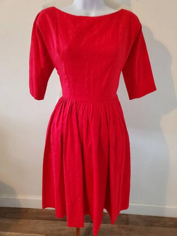 Vintage 1950s Union-made tea dress - image 1