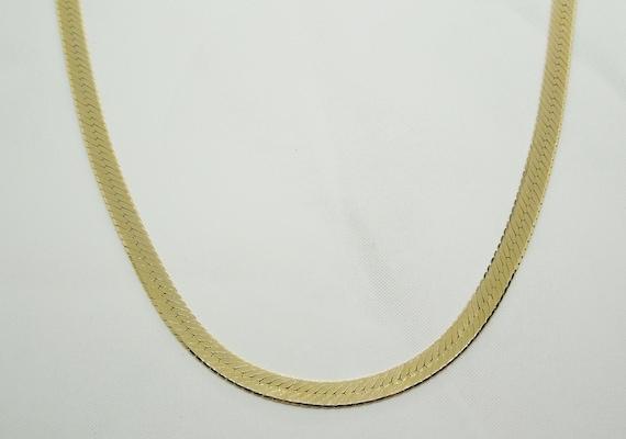 14K Yellow Gold Herringbone Chain Necklace, Gold H