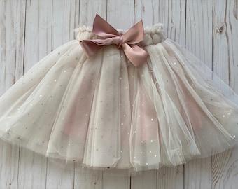 Pink Baby tutu, toddler tutu, Toddler tulle skirt, flower girl outfit, toddler girl birthday, cake smash birthday, toddler photo prop