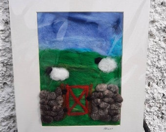 Wool felt pictures