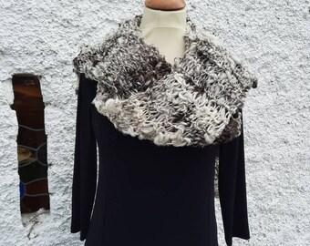 Jacob wool hand knit scarf