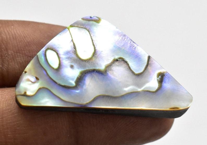 25carat 35x22x5mm Amazing Netural Abalone Shell Cabochon Loose Gemstone Abalone shell For Jewelry making