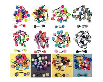 Girls Pack Of 4 Fruit Motif Ponio Bobble Hair Accessories Toddler Bobbles