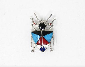 Beetle Bug Brooch - Vintage Sterling Silver Broach - Stamped 925 (Solid Sterling Silver) Unworn