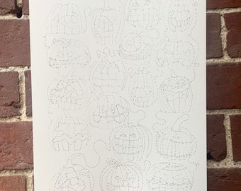 Do it yourself 'Pumpkin Tangled' Halloween themed one line illustration.