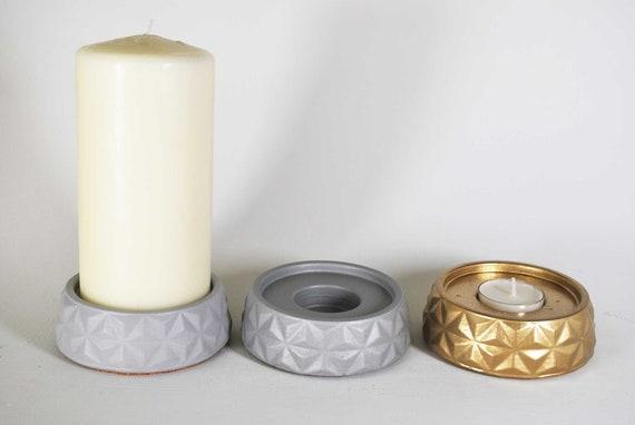 Goldplatte Kerzenhalter Dekorative Eisensäule Kerzenplatte Sockelständer