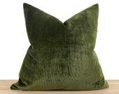 Dark Green Pillow Cover, Green Velvet Euro Sham Cover, Decorative Cushion Cover, Cotton Velvet Soft Fabric, Throw Pillow Cover All Sizes