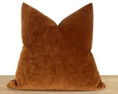 Terracotta Pillow Cover, Cotton Velvet Fabric, Euro Sham Cover, Throw Pillow Cover, Living Room Decor, Bedroom Decor All Sizes