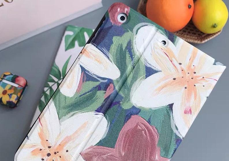 Oil Painting Lily iPad Mini 5 iPad Air 3 iPad Pro 10.5 Pro 12.9 iPad Case 6th 5th gen iPad 2018 2019