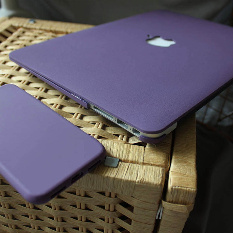 Purple Matte Macbook Case for New Pro Mac Laptop Macbook Air 13 2020  Macbook Pro 15 2019 Case Macbook 12 Case Macbook 11 Air