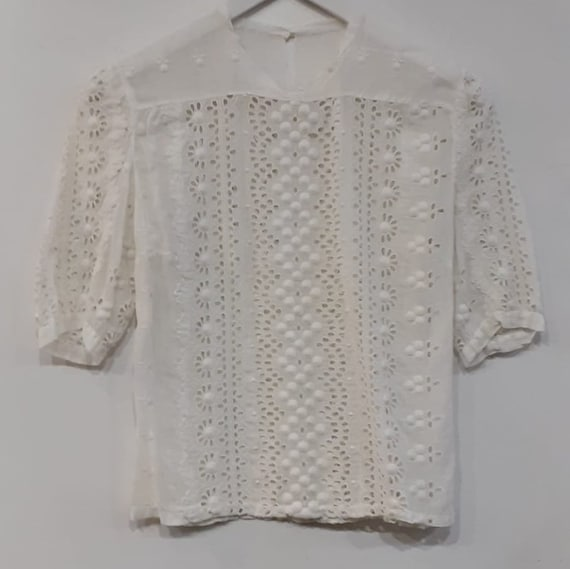 """Hand Embroidered""""Cambraia"""" blouse"""