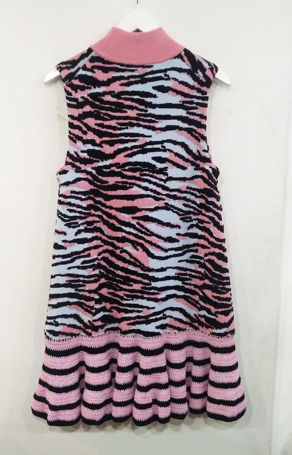 Kenzo Sleeveless Cotton/Wool Blend Dress