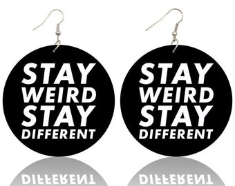 Gift For Weird People Stay Weird Ring Embrace Yourself Gift For Introvert Be Unique Socially Awkward