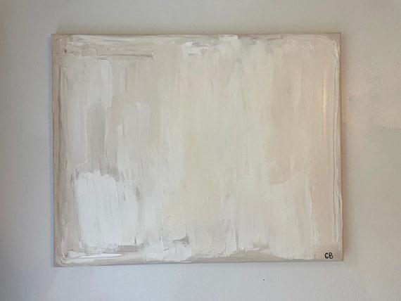 Mini Minimalism: Beige, White, Cream Abstract Original Art. Textured