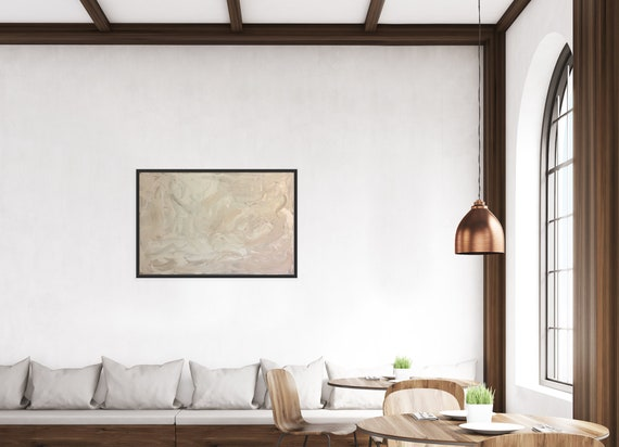 Large/Oversized Abstract Canvas Art: Textured Wall Art, White, Minimalism