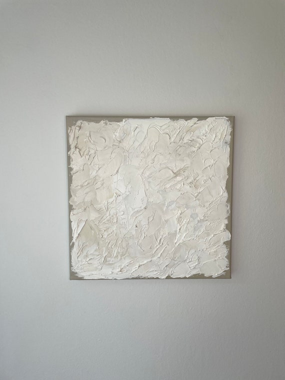 Fall Collection #5: Textured White Art, Abstract White Art, Minimal Art, Original Painting on Canvas
