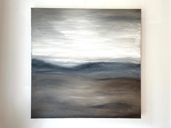 Original Abstract Art: Large, Minimal, Abstract, Contemporary Painting on Canvas