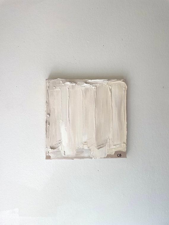 Original Mini Minimalism: Texture, Abstract, Painting on Canvas