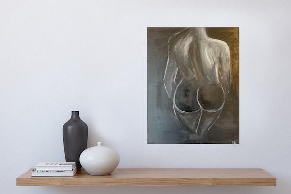 Female, Original Painting: Modern, Abstract, Minimal Art