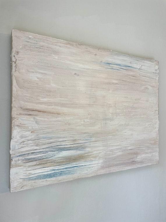 Textured Minimalism: Original, Contemporary, Modern, White, Painting, on Canvas