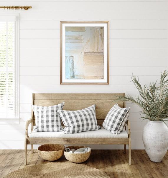 Textured, Original Art: Modern, Minimal, Abstract, White, Cream, on Canvas