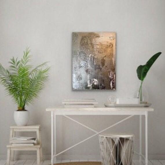 Black Abstract Art, Original Textured Art: Original Painting, Textured, Minimal, Art