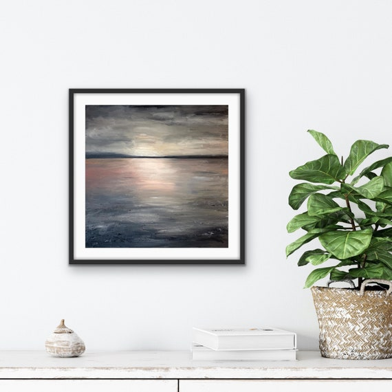 Abstract Canvas Art: Original Large Painting, Landscape, Textured Abstract, Wall Art on Canvas, Minimal, White, Black