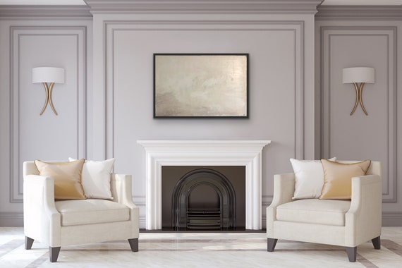 White Abstract Texture Wall Art: Original Textured Painting on Canvas