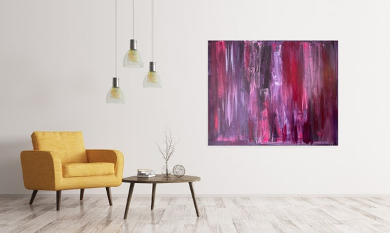 Large Abstract Art on Canvas: Modern, Original Painting, Colorful, Oversized, Texture