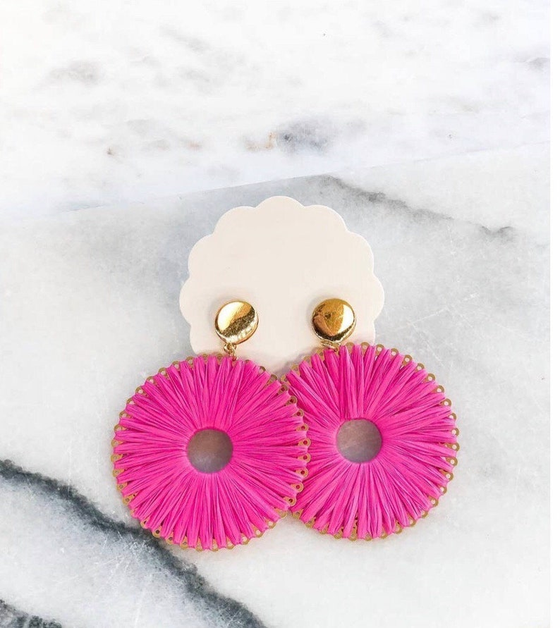 Woven Dangle Earrings image 0