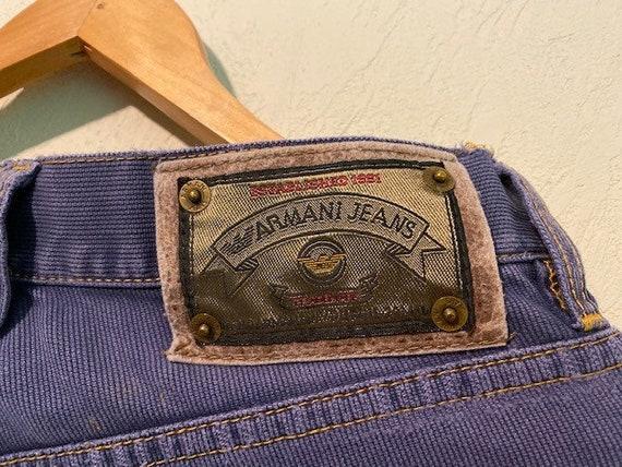 Armani Vintage 80's Purple Corduroy Jeans