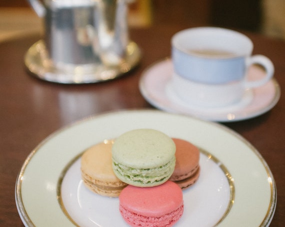 Paris photography, Paris cafe photography, Macaroon print, Travel photo print, Fine Art Photography print, Home Decor, House Warming