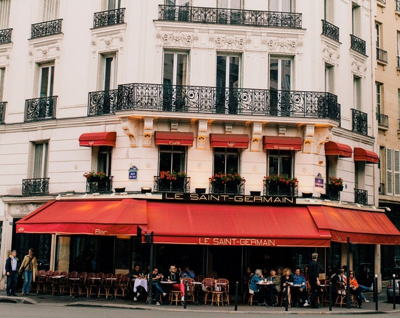 Paris photography, Paris cafe photo, Paris cafe print, Travel photo print, Fine Art Photography print, Home Decor, House Warming