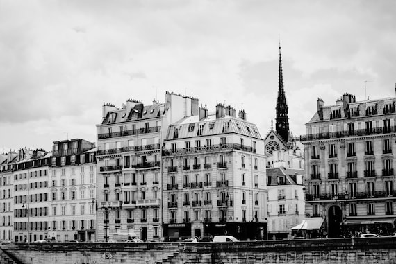 Paris photography, View of the left bank Paris, Seine print, Travel photo print, Fine Art Photography print, Home Decor, House Warming