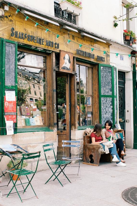 Paris photography, Paris bookstore, Shakespeare and co. print, Travel photo print, Fine Art Photography print, Home Decor, House Warming