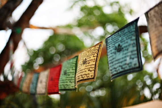 Rasta prayer flags, Costa Rica photography, Travel photo print,  Surf photo print, Fine Art Photography print, Home Decor, House Warming