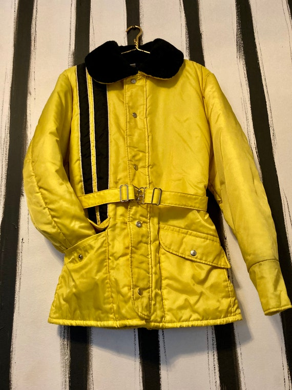 Vintage 70's Ski Jacket with Clasps and Racer Stri
