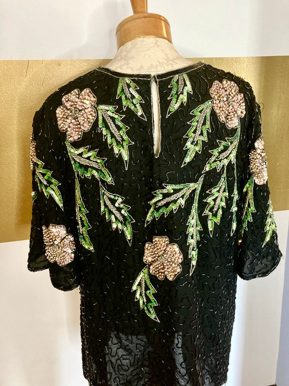 Vintage Western Dolly Parton top 3x Scalloped Slee