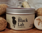 Sangria-Sangria | The Black Lab Candle Co. | Hand Poured Soy Wax Candle | 8 oz. Tin Container | Wooden Wick | Toxin Free Scents