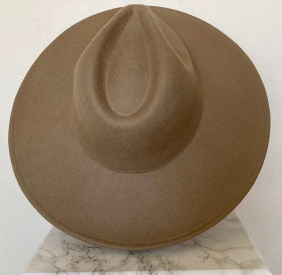 Wide brim fedora hat/ vintage fedora hat/ panama … - image 7