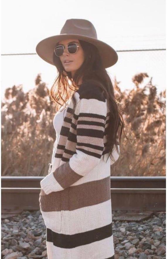 Wide brim fedora hat/ vintage fedora hat/ panama … - image 3
