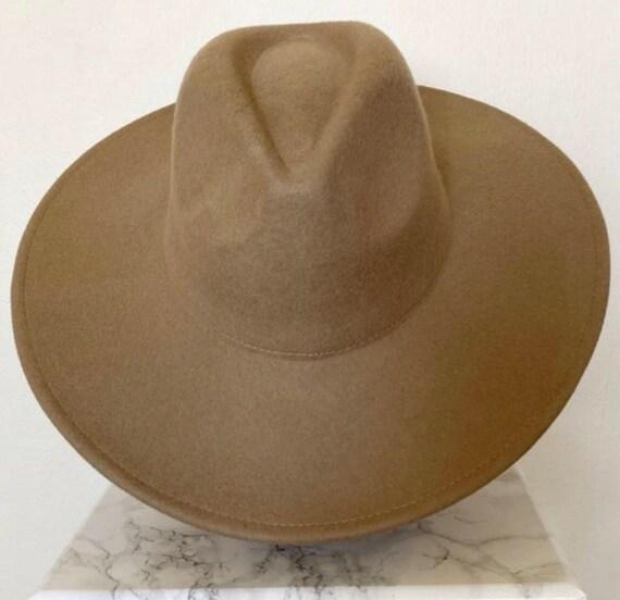 Wide brim fedora hat/ vintage fedora hat/ panama … - image 6