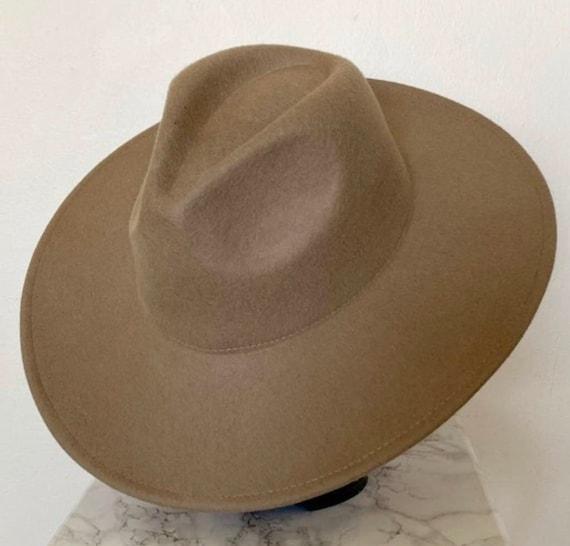 Wide brim fedora hat/ vintage fedora hat/ panama … - image 5