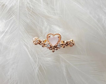 14k gold plated zirconia flower and adjustable ringcz jewelleryhandmadeadjustable ringstunning ringcomes gift wrapped
