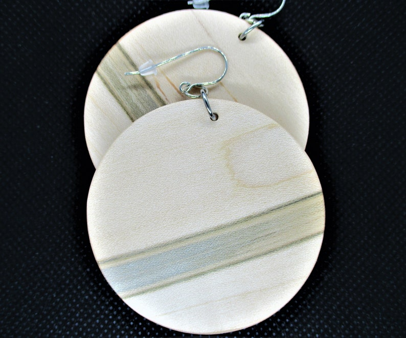 Handmade wooden earrings Maple wood earrings Unique wood earrings.