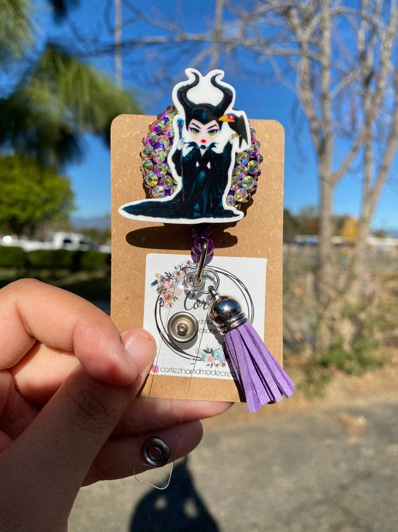 Maleficent Badge Reel Card Holder